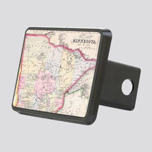 Vintage Map of Minnesota ( Rectangular Hitch Cover