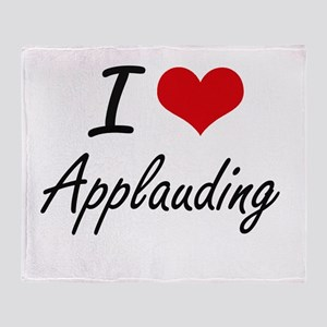 I Love Applauding Artistic Design Throw Blanket