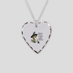 HALLOWEEN WITCH - HOCUS POCUS Necklace Heart Charm