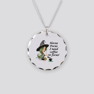HALLOWEEN WITCH - HOCUS POCU Necklace Circle Charm