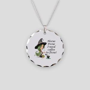 HALLOWEEN WITCH - HOCUS POCU Necklace Circle Charm