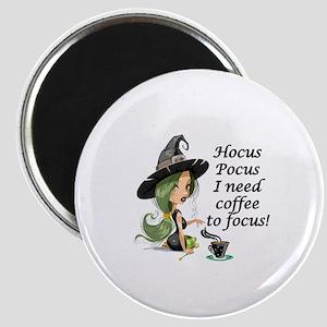 HALLOWEEN WITCH - HOCUS POCUS I NEED  COFFE Magnet