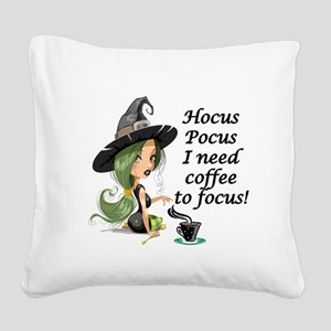 HALLOWEEN WITCH - HOCUS POCUS Square Canvas Pillow