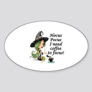 HALLOWEEN WITCH - HOCUS POCUS I NEE Sticker (Oval)