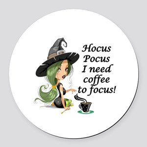 HALLOWEEN WITCH - HOCUS POCUS I N Round Car Magnet
