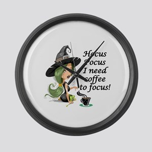 HALLOWEEN WITCH - HOCUS POCUS I N Large Wall Clock