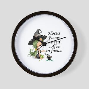 HALLOWEEN WITCH - HOCUS POCUS I NEED  C Wall Clock