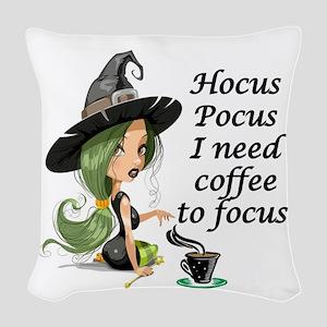 HALLOWEEN WITCH - HOCUS POCUS  Woven Throw Pillow
