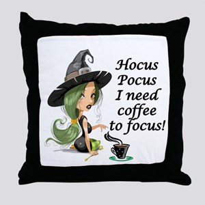 HALLOWEEN WITCH - HOCUS POCUS I NEED  Throw Pillow