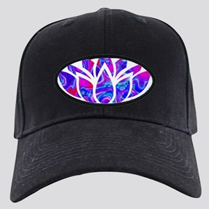 Lotus flower Black Cap with Patch