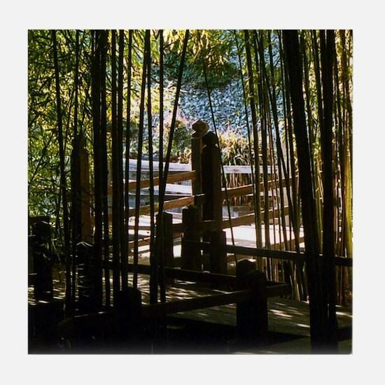 Through The Bamboo Tile Coaster