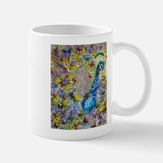 Peacock and Butterflies Mugs