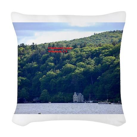 Highland Lake 1 Woven Throw Pillow