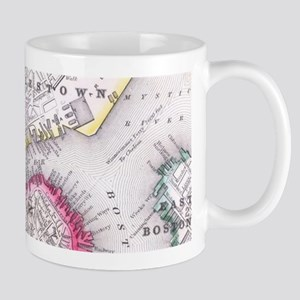 Vintage Map of Downtown Boston (1864) Mugs