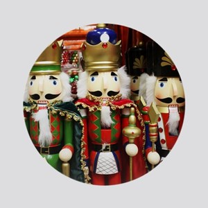 Nutcracker Soldiers Round Ornament
