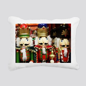 Nutcracker Soldiers Rectangular Canvas Pillow