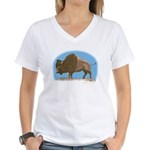 Bison Women's V-Neck T-Shirt