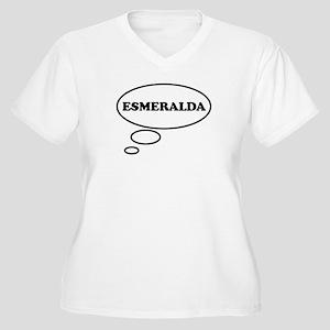 Thinking of ESMERALDA Women's Plus Size V-Neck T-S