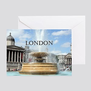 Fountain, Trafalgar Square, London ( Greeting Card