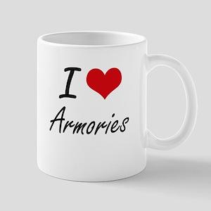 I Love Armories Artistic Design Mugs