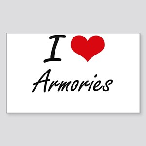 I Love Armories Artistic Design Sticker