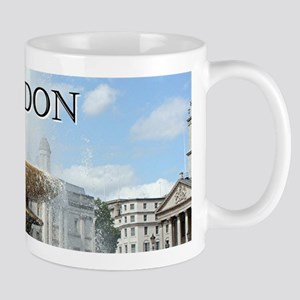 Fountain, Trafalgar Square, London (caption) Mugs