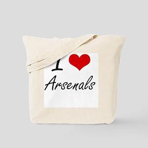 I Love Arsenals Artistic Design Tote Bag