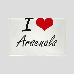 I Love Arsenals Artistic Design Magnets