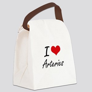I Love Arteries Artistic Design Canvas Lunch Bag