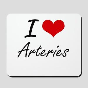 I Love Arteries Artistic Design Mousepad