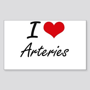 I Love Arteries Artistic Design Sticker
