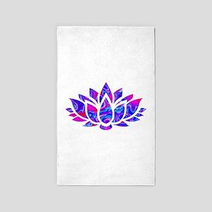 Lotus flower Area Rug
