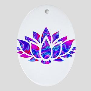 Lotus flower Oval Ornament