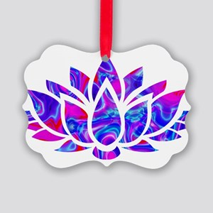 Lotus flower Picture Ornament