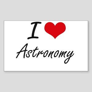 I Love Astronomy Artistic Design Sticker