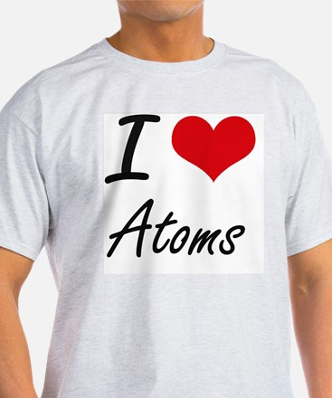 I Love Atoms Artistic Design T-Shirt