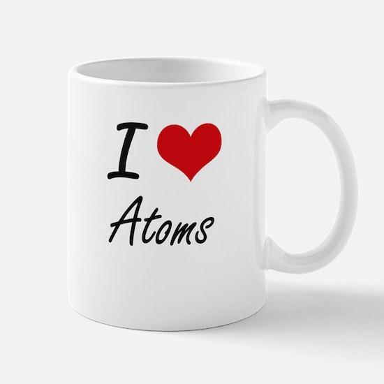 I Love Atoms Artistic Design Mugs