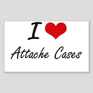 I Love Attache Cases Artistic Design Sticker