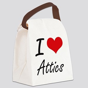 I Love Attics Artistic Design Canvas Lunch Bag