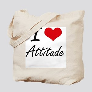 I Love Attitude Artistic Design Tote Bag