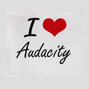 I Love Audacity Artistic Design Throw Blanket