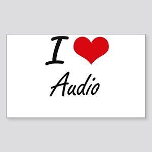I Love Audio Artistic Design Sticker