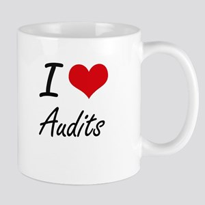 I Love Audits Artistic Design Mugs