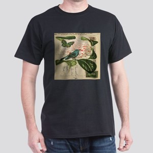 french botanical flower bird T-Shirt