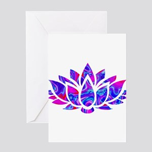 Lotus flower Greeting Cards