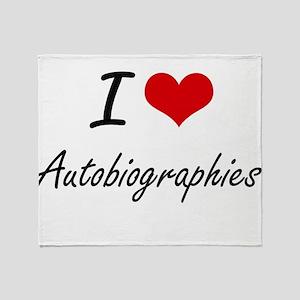 I Love Autobiographies Artistic Desi Throw Blanket
