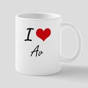 I Love Av Artistic Design Mugs