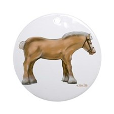 Draft Horse Round Ornament