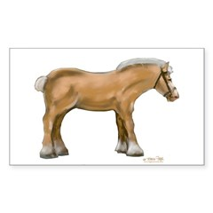 Draft Horse Sticker (Rectangle)