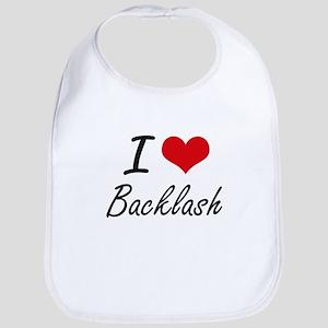 I Love Backlash Artistic Design Bib